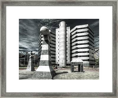Plaza Framed Print by Wayne Sherriff