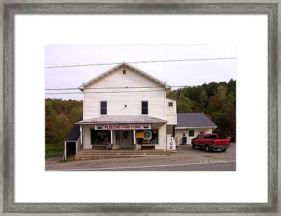 Framed Print featuring the photograph Pleezing Authorized Food Store by R B Harper