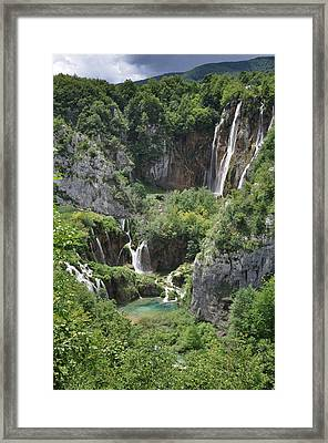 Framed Print featuring the photograph Plitvice Lakes National Park by Laura Melis