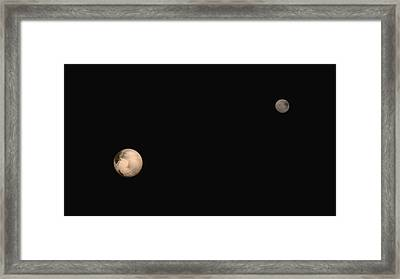 Pluto And Charon Framed Print by Nasa/jhuapl/swri