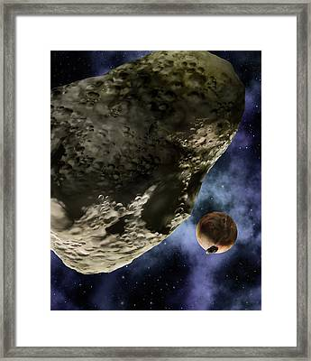 Pluto And Its Moons Framed Print