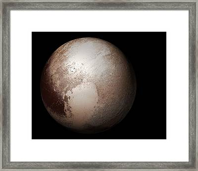 Pluto From Space Framed Print