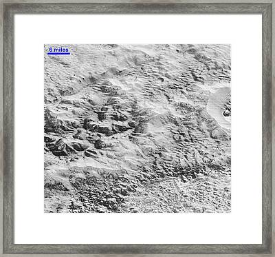 Pluto's Ice Crust Framed Print by Nasa/johns Hopkins University Applied Physics Laboratory/southwest Research Institute