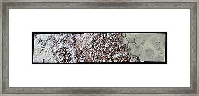 Pluto's Surface Framed Print