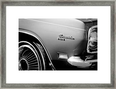Plymouth Barracuda 340-s Emblem Framed Print by Jill Reger