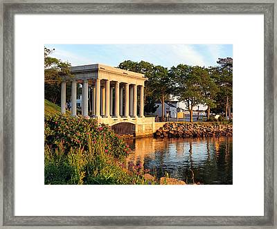 Plymouth Rock Canopy Framed Print