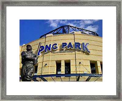 Pnc Park Baseball Stadium Pittsburgh Pennsylvania Framed Print by Amy Cicconi