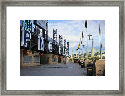 Pnc Park Riverwalk Painting Look Framed Print by Stephen Falavolito