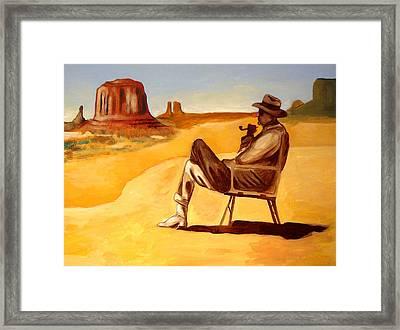 Poet In The Desert Framed Print by Joseph Malham