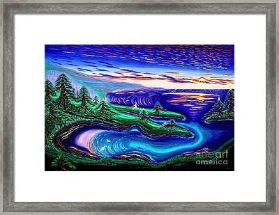 Point Lobos California China Cove Framed Print by David Earl Weaver