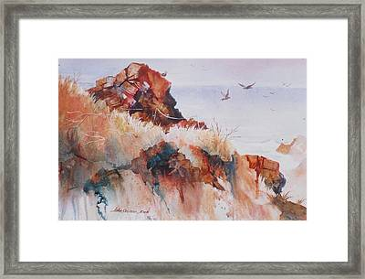 Point Lobos Precipice Framed Print by John  Svenson