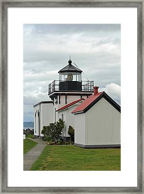 Framed Print featuring the photograph Point No Point Lighthouse by E Faithe Lester