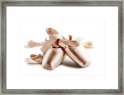 Pointe Shoes Framed Print