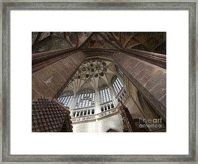 pointed vault of Saint Barbara church Framed Print