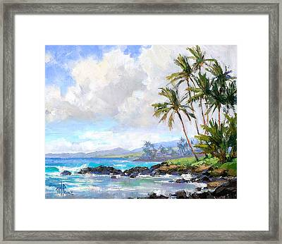 Poipu Beach #1 Framed Print