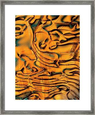 Polarised Lm Of Liquid Crystal Framed Print by Pasieka