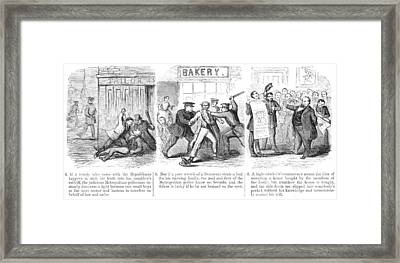 Police Corruption Cartoon Framed Print by Granger