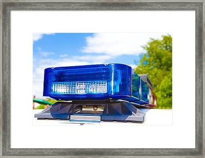 Police Lights Framed Print by Fizzy Image