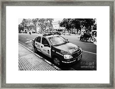 policia federal argentina federal police patrol vehicle Buenos Aires Argentina Framed Print by Joe Fox