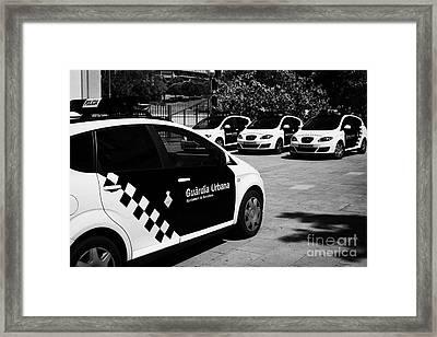 policia guardia urbana patrol cars Barcelona Catalonia Spain Framed Print by Joe Fox