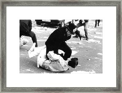 Poll Tax Riots London Framed Print