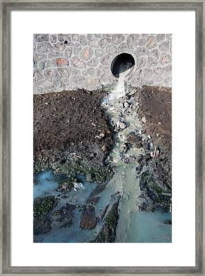 Polluted Waterway Framed Print