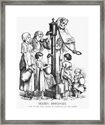 Pollution Cartoon, 1866 Framed Print by Granger