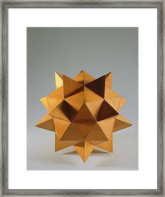Polyhedron Wood Framed Print by Italian School