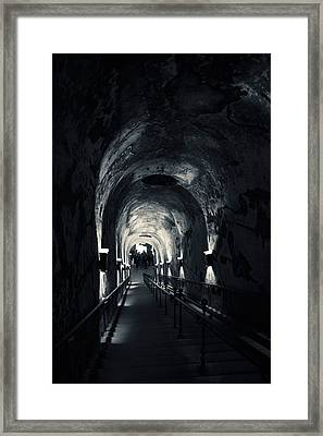 Pommery Champagne Winery Passageway Framed Print