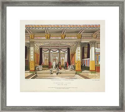 Pompeian Court Framed Print