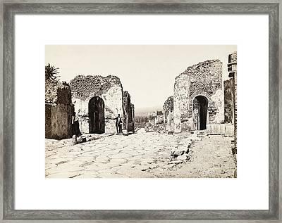 Pompeii Herculaneum Gate Framed Print