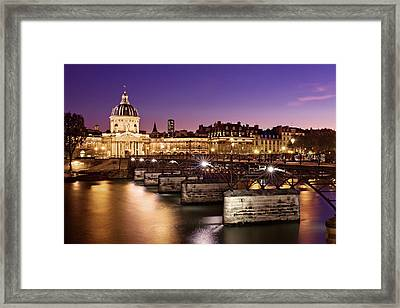 Framed Print featuring the photograph Pont Des Arts And Institut De France / Paris by Barry O Carroll