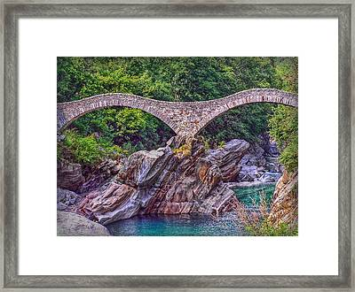 Ponte Dei Salti Framed Print by Hanny Heim