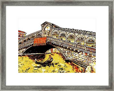 An Iconic Bridge Framed Print by Loredana Messina