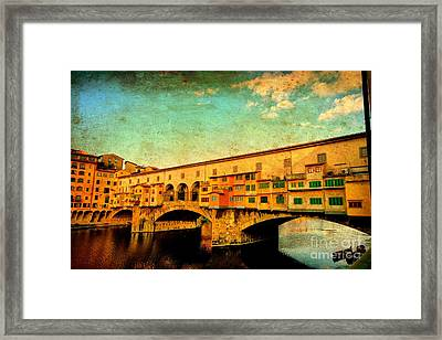Ponte Vecchio 01 Framed Print by Nicola Fiscarelli