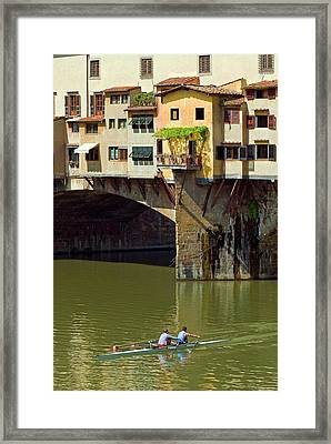 Ponte Vecchio (1345 Framed Print
