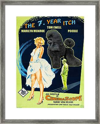 Poodle Art - The Seven Year Itch Movie Poster Framed Print by Sandra Sij