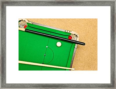 Pool Table Framed Print