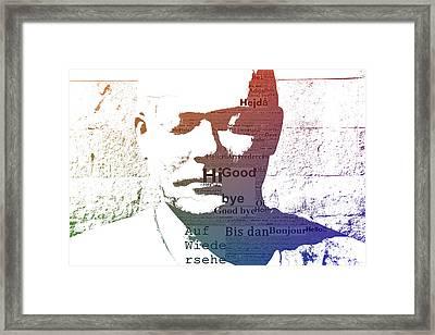 Pop Art Statue Framed Print