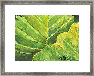 Pop Of Green Framed Print by Annie St Martin
