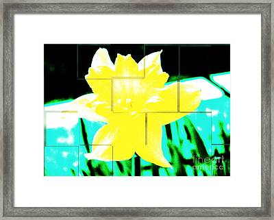 Pop Yellow Framed Print by Arlene Carmel