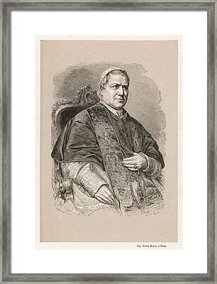 Pope Pius Ix (conde Giovanni Maria Framed Print by Mary Evans Picture Library