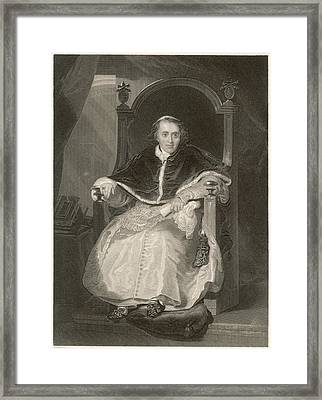 Pope Pius Vii (luigi Barnabo Framed Print by Mary Evans Picture Library