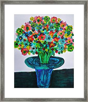 Poppies And Wildflowers Framed Print by Gregory Young