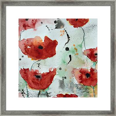 Poppies Flower- Painting Framed Print