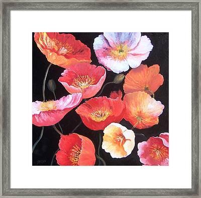 Poppies Framed Print by Jan Matson