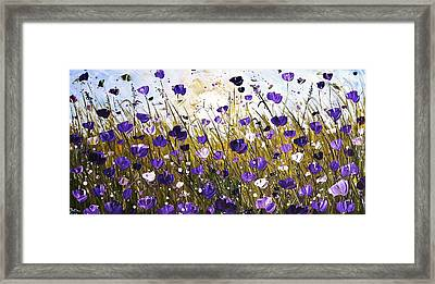 Poppis In Purple Framed Print by Jolina Anthony