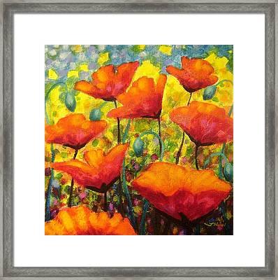 Poppy Corner Framed Print