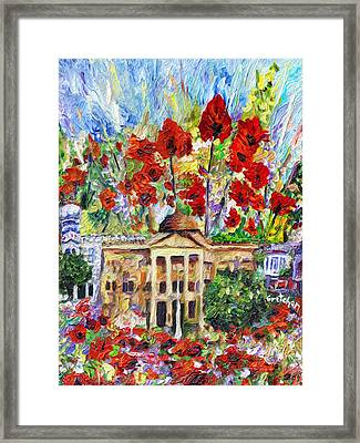 Poppy Days Are Here Again Framed Print by GretchenArt FineArt