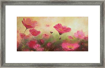 Poppy Garden By Jan Matson Framed Print